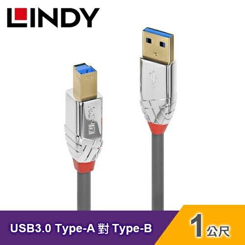 【LINDY 林帝】USB 3.0 TYPE-A公 對 TYPE-B公 傳輸線(1M)【三井3C】