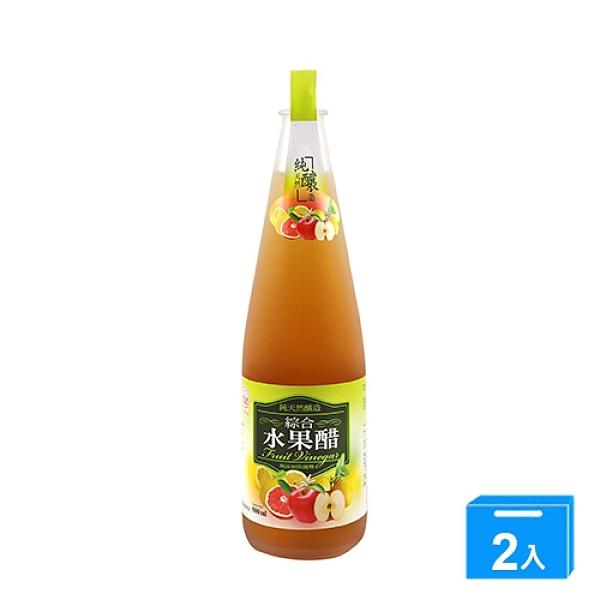 崇德發綜合水果醋500ML【兩入組】【愛買】