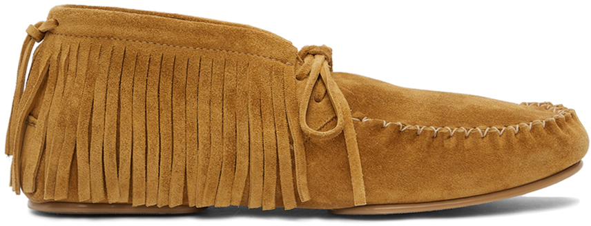 Loewe 驼色 Casual 绒面革乐福鞋