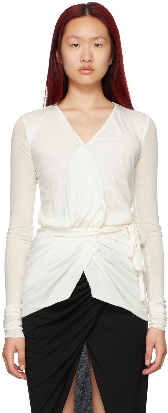 Rick Owens Lilies 白色裹身上装
