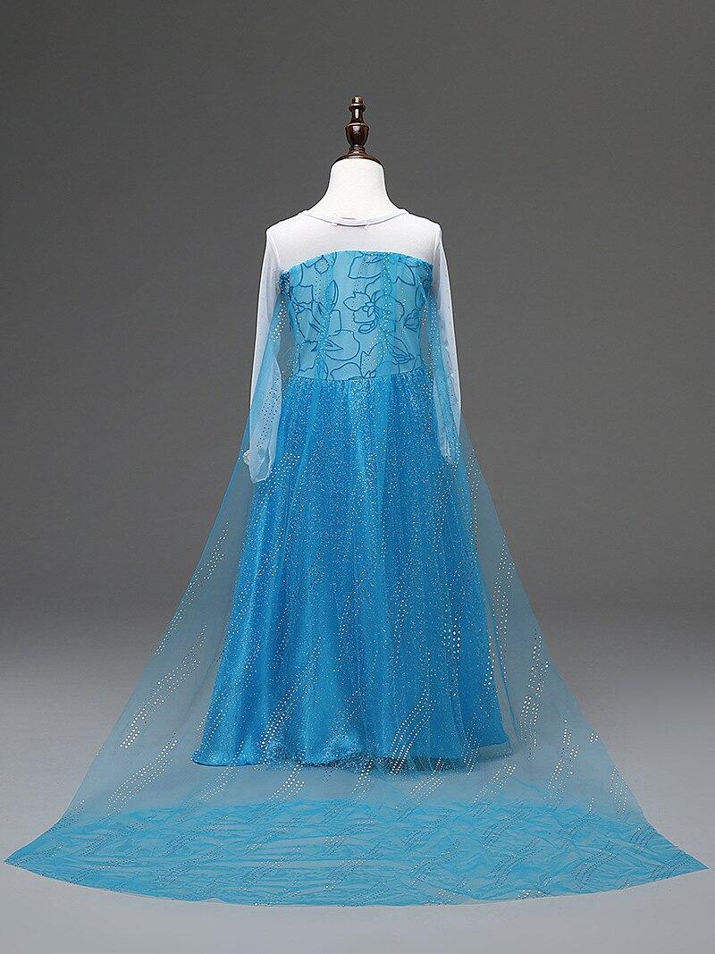 冰雪奇緣公主裙艾莎elsa女王禮服兒童連衣裙Frozen愛莎女童公主裙