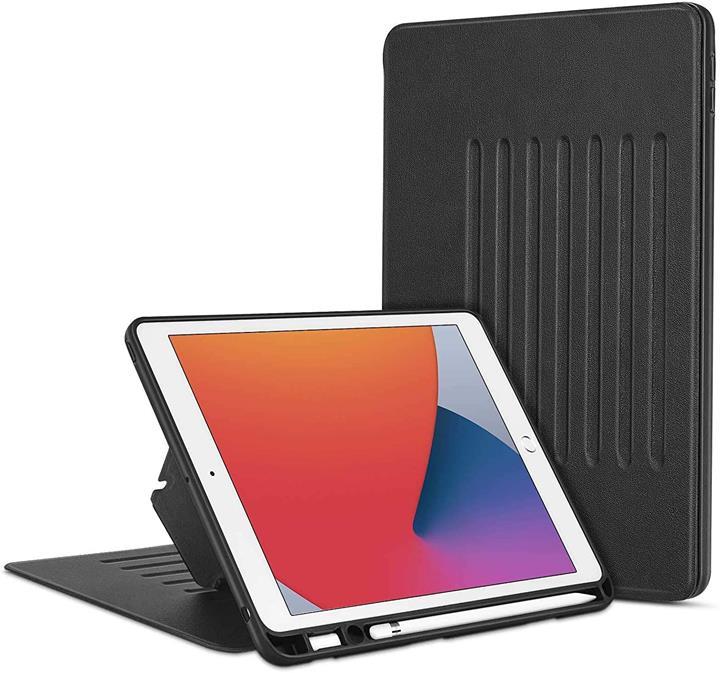 【日本代購】ESR iPad 8 保護殼 2020 iPad 10.2 保護殼 第7代 2019 磁性支架保護殼 支持7個角度 便利的支架 黑色