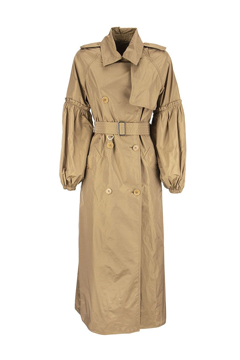 MAXMARA SABRINA - Silk taffeta trench coat