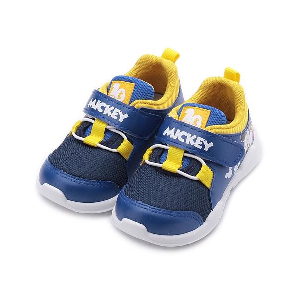 DISNEY 米奇束繩休閒鞋 藍 中童鞋