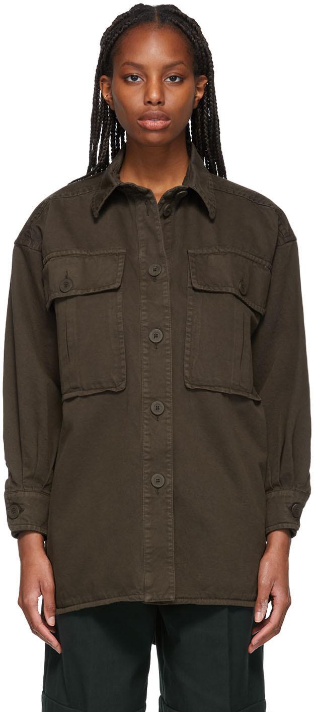 See by Chloé 棕色 Army 衬衫