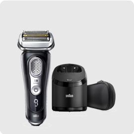 小倉家 【9381CC-V】電動刮鬍刀 新9系列 四刀頭 刮鬍刀 快充 免拆快洗 LED顯示 自動清洗座