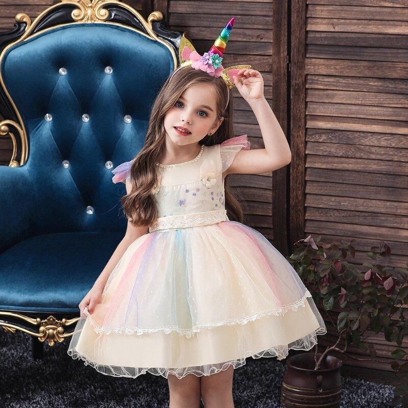 女童公主裙畢業宴會發表會洋裝禮服80-120CM(款號756)M2185