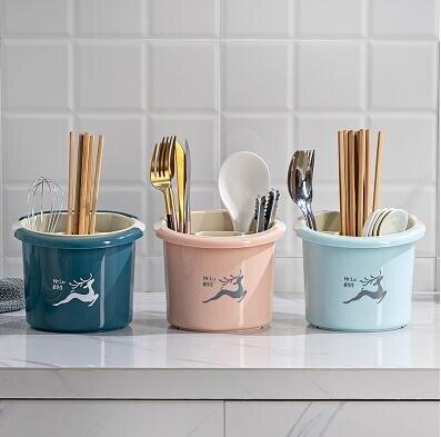 樂天精品 快速出貨 家用筷籠廚房雙層瀝水筷子簍收納筒防黴置物架餐具勺子收納盒筷架