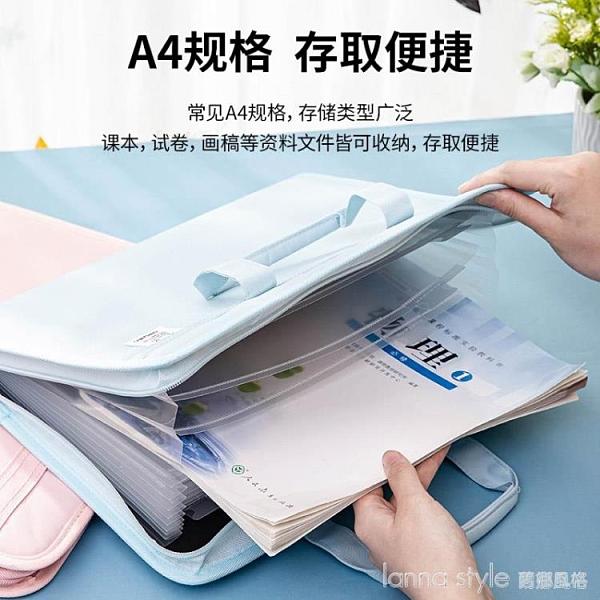 布質風琴包公文袋13格大容量多層手提公文包文件夾 全館新品85折