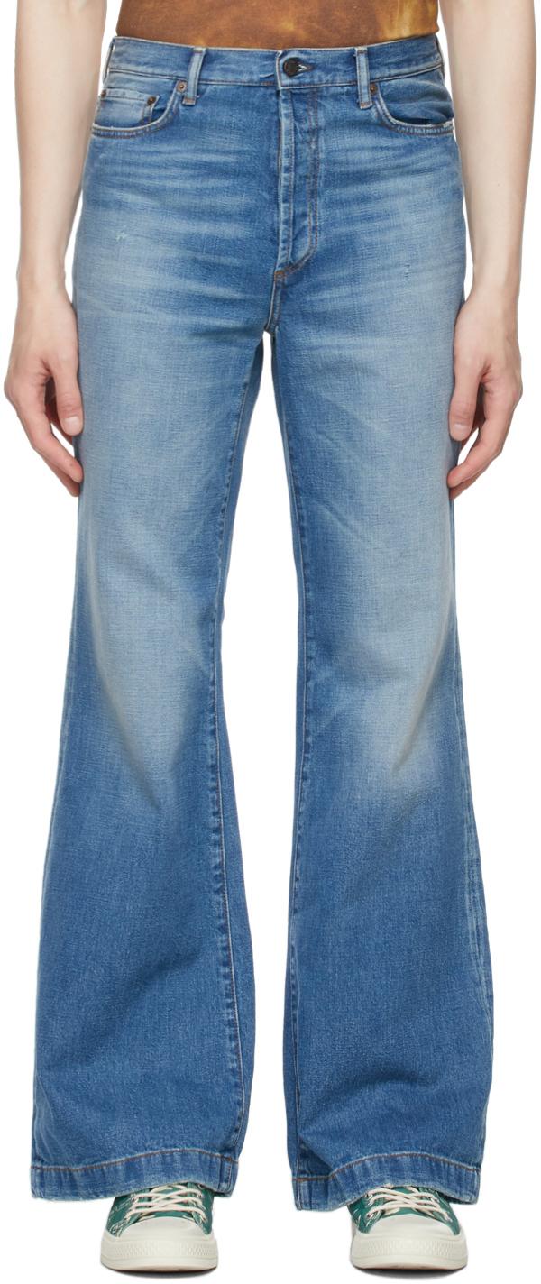 Acne Studios 蓝色 Bootcut Fit 有机棉牛仔裤