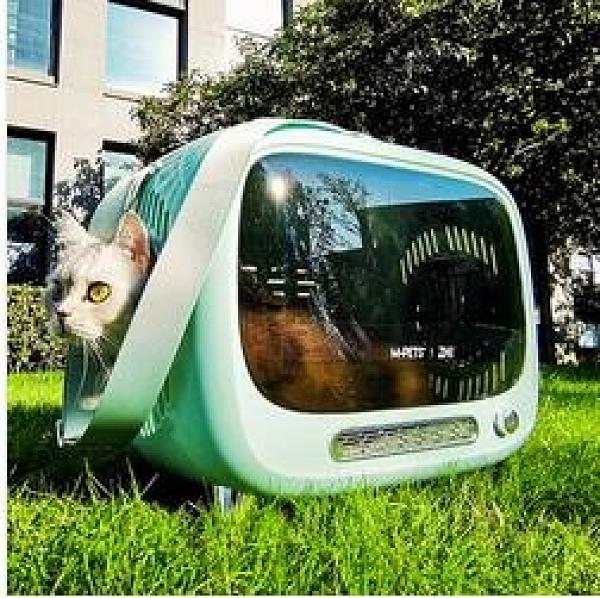 貓包外出便攜冬天貓咪背包太空艙貓籠子書包手提寵物包外出外帶包「時尚彩紅屋」