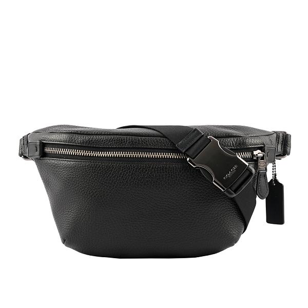 【COACH】Grade 素面拼皮革腰包(黑色) C1413 QBBK