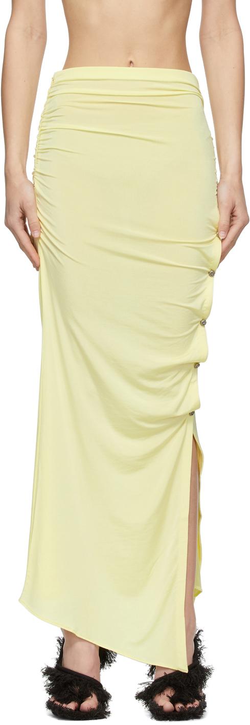 Acne Studios 黄色不对称半身裙