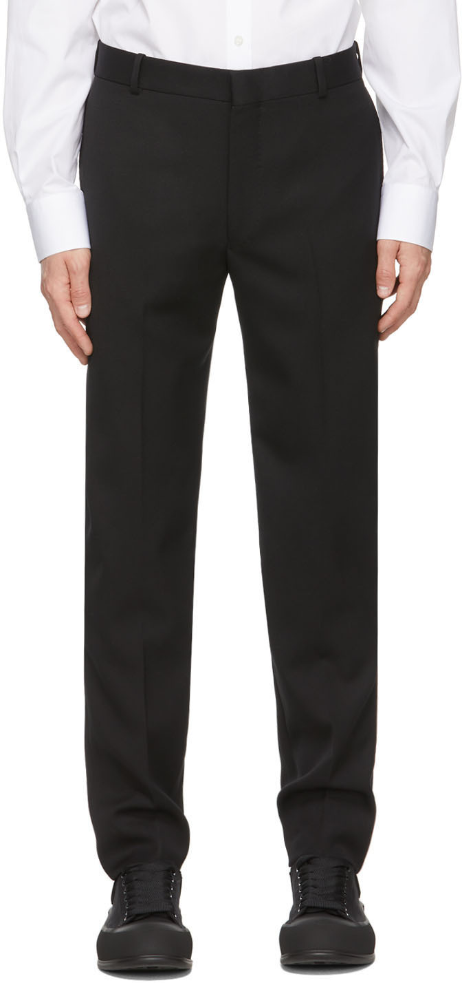 Alexander McQueen 黑色 Sustainable 羊毛长裤