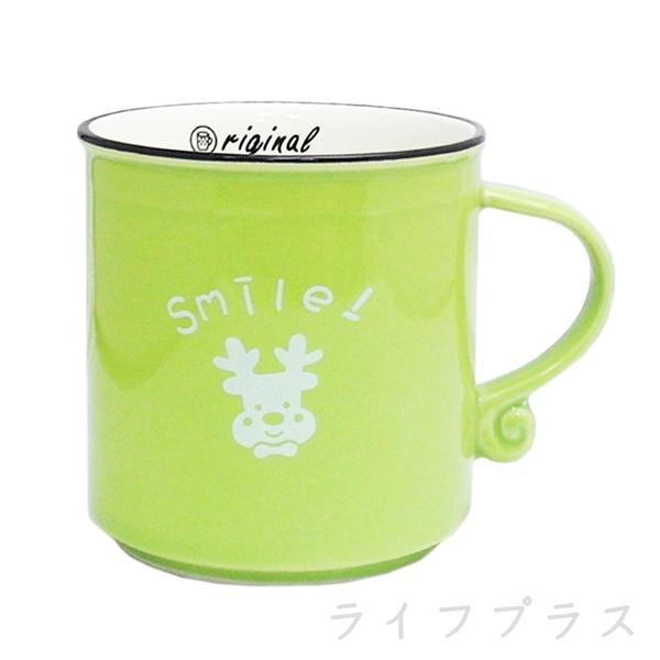 色釉奶茶杯-280ml-綠色