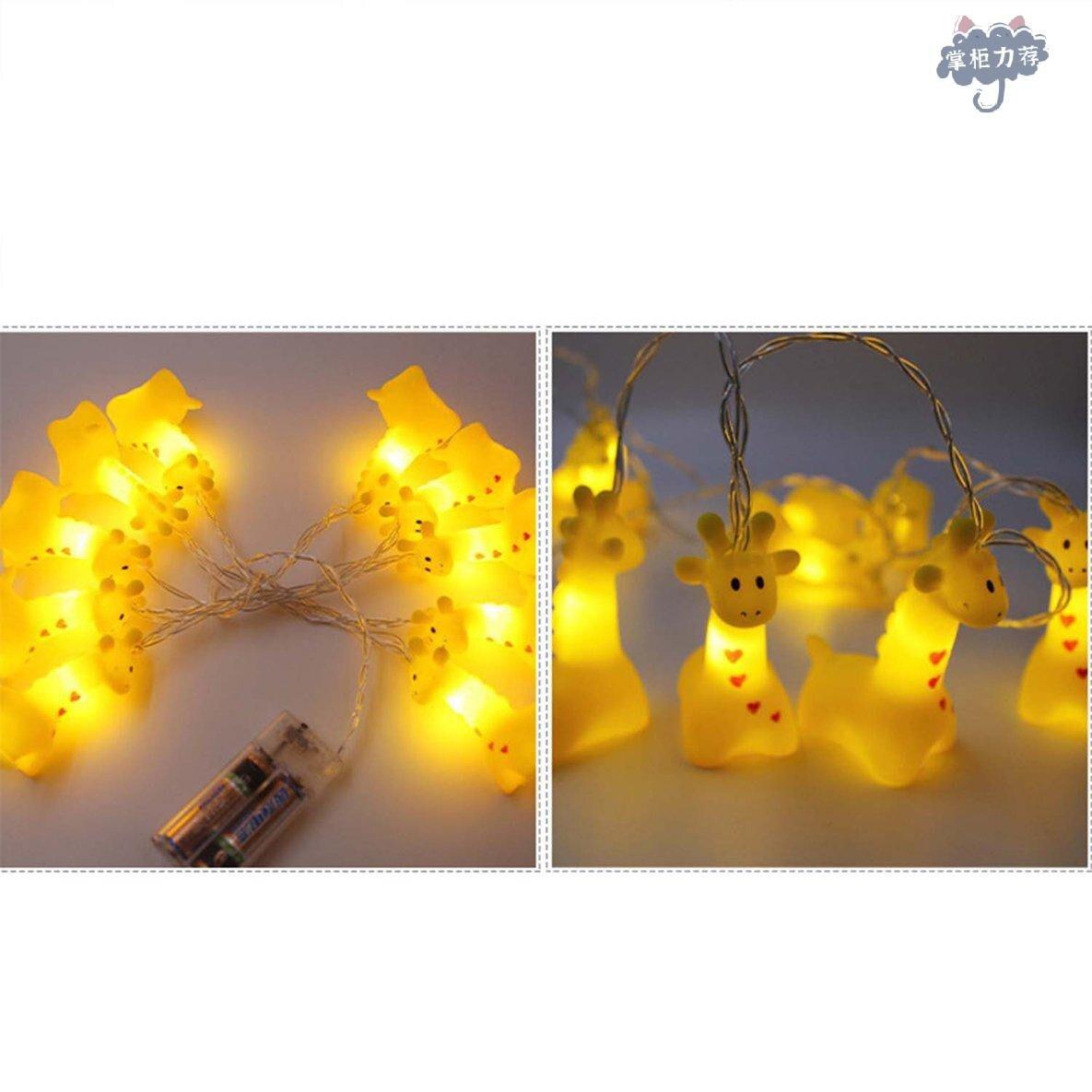 【全館免運】動物燈串南瓜LED星空燈裝飾燈LED動物 呆萌動物造型 裝飾燈串 聖誕裝飾