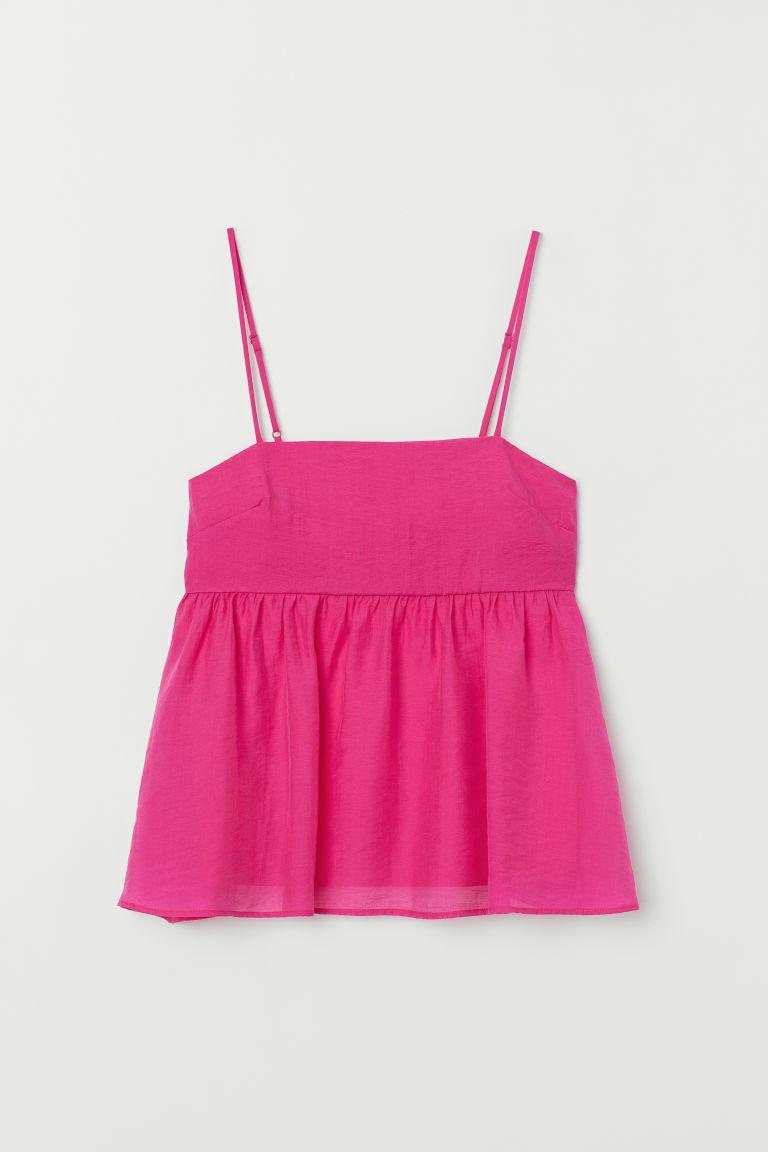 H & M - 萊賽爾混紡上衣 - 粉紅色
