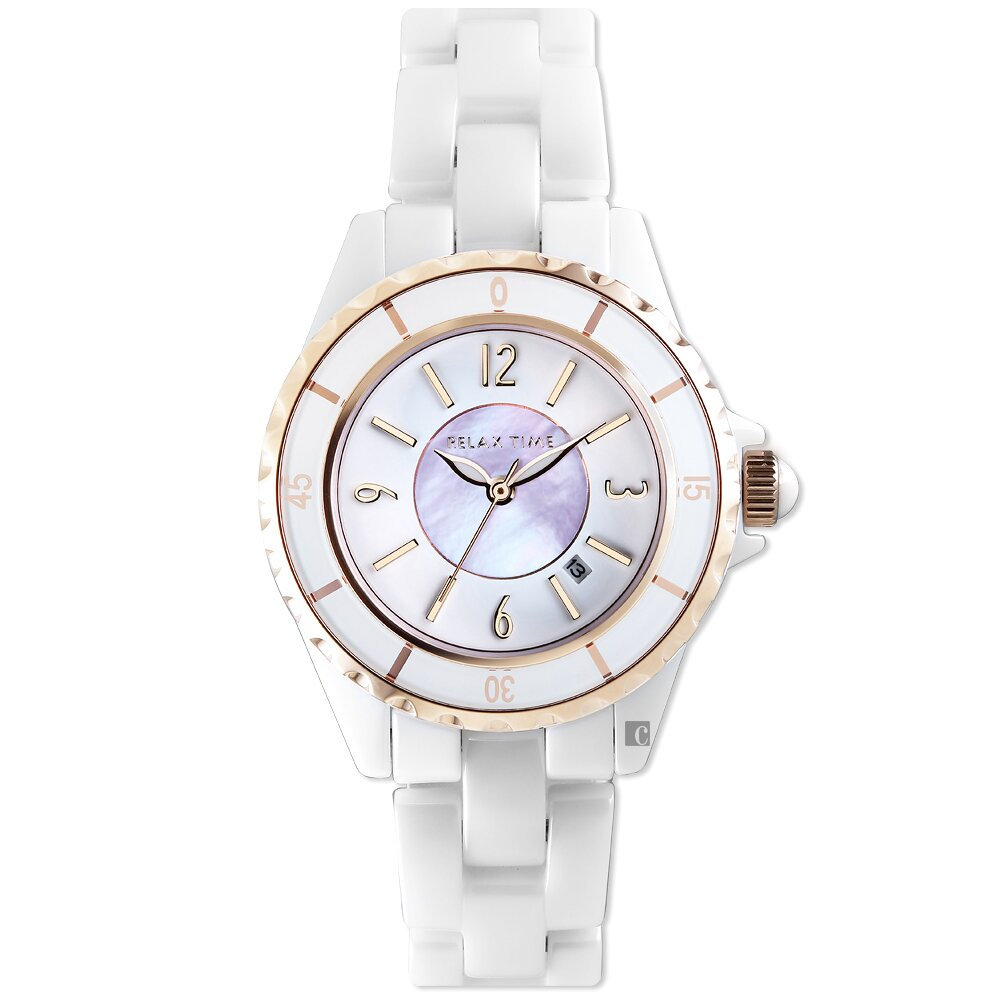 RELAX TIME 經典陶瓷系列手錶-紫貝(RT-93-13)
