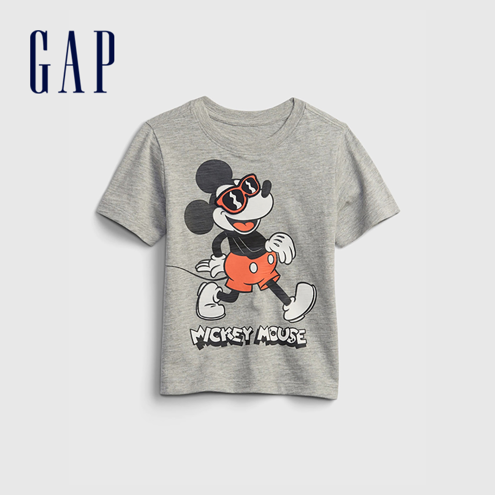 Gap 男幼童 Gap x Disney 迪士尼系列貼布短袖T恤 959571-灰色