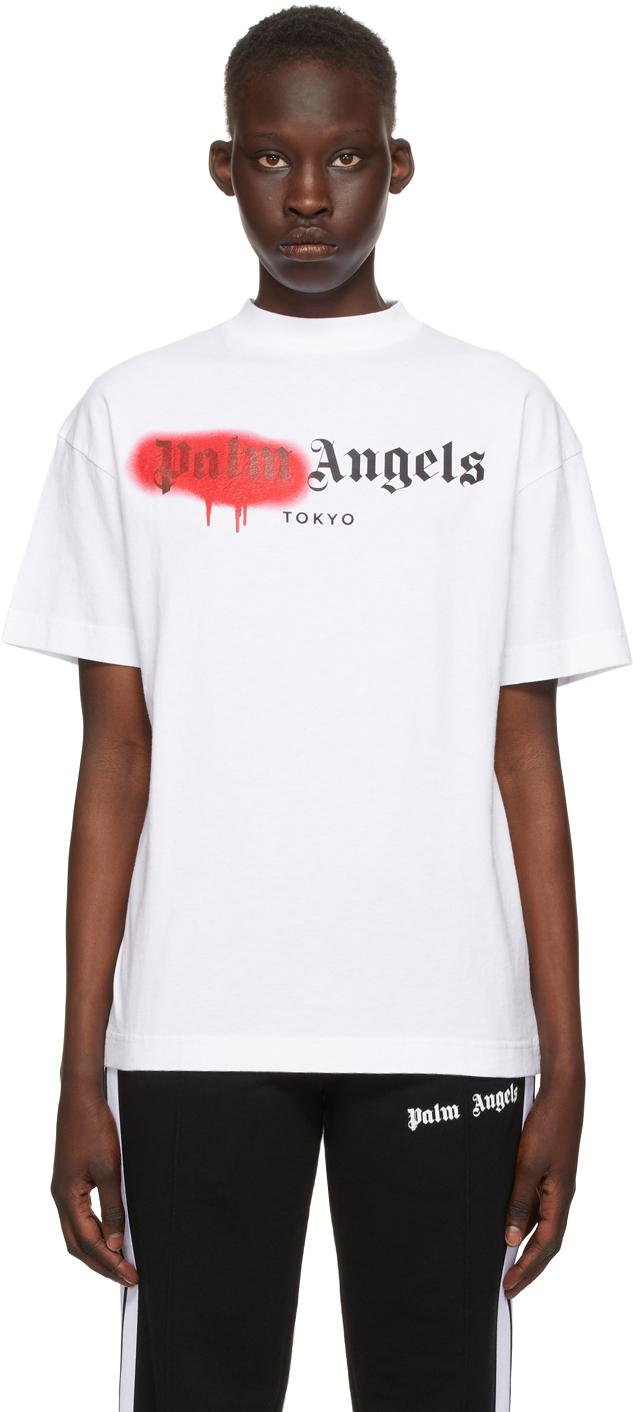 Palm Angels 白色 Tokyo Sprayed Logo T 恤