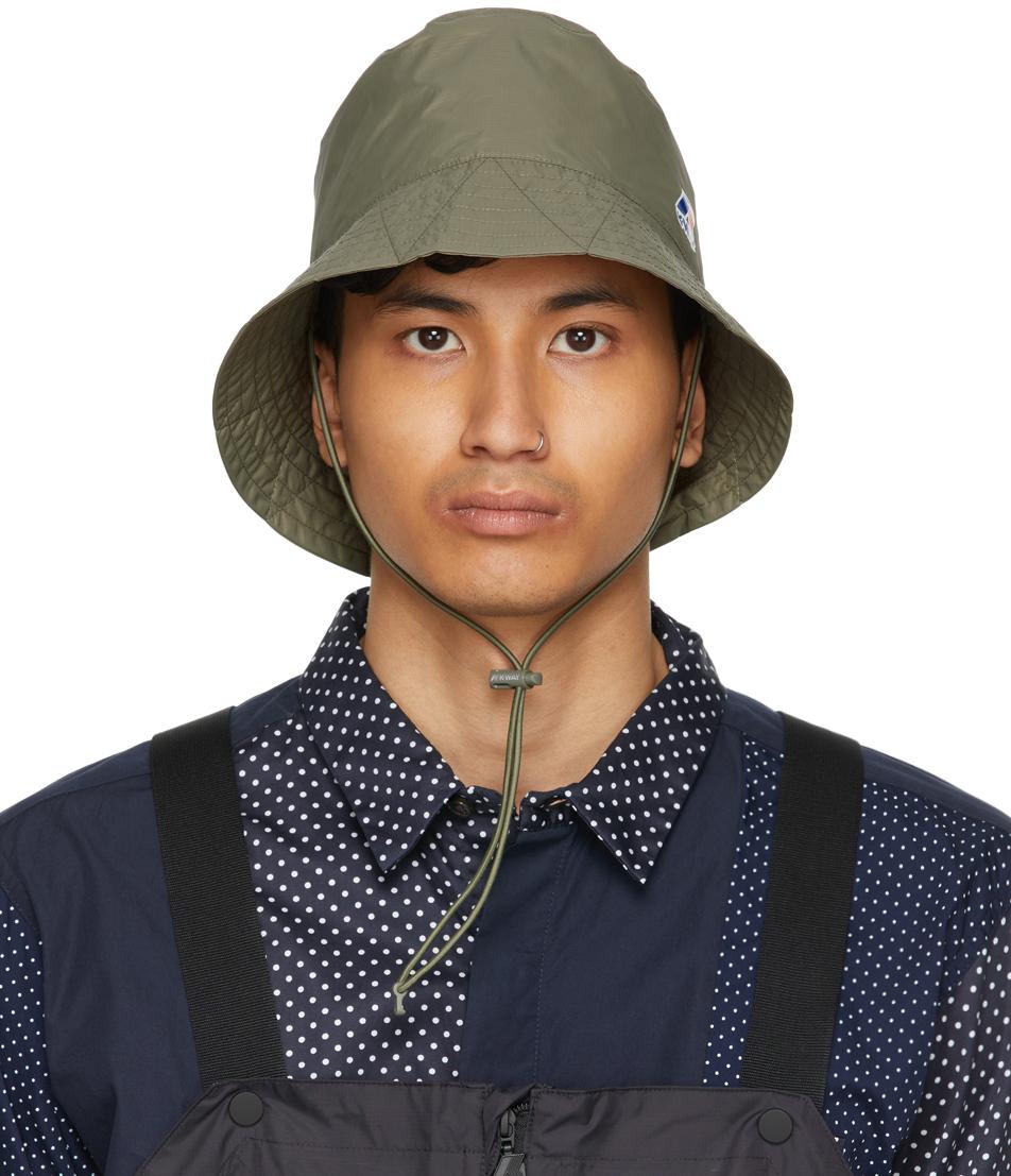 Engineered Garments 军绿色 K-Way 联名 Pascalen 3.0 渔夫帽
