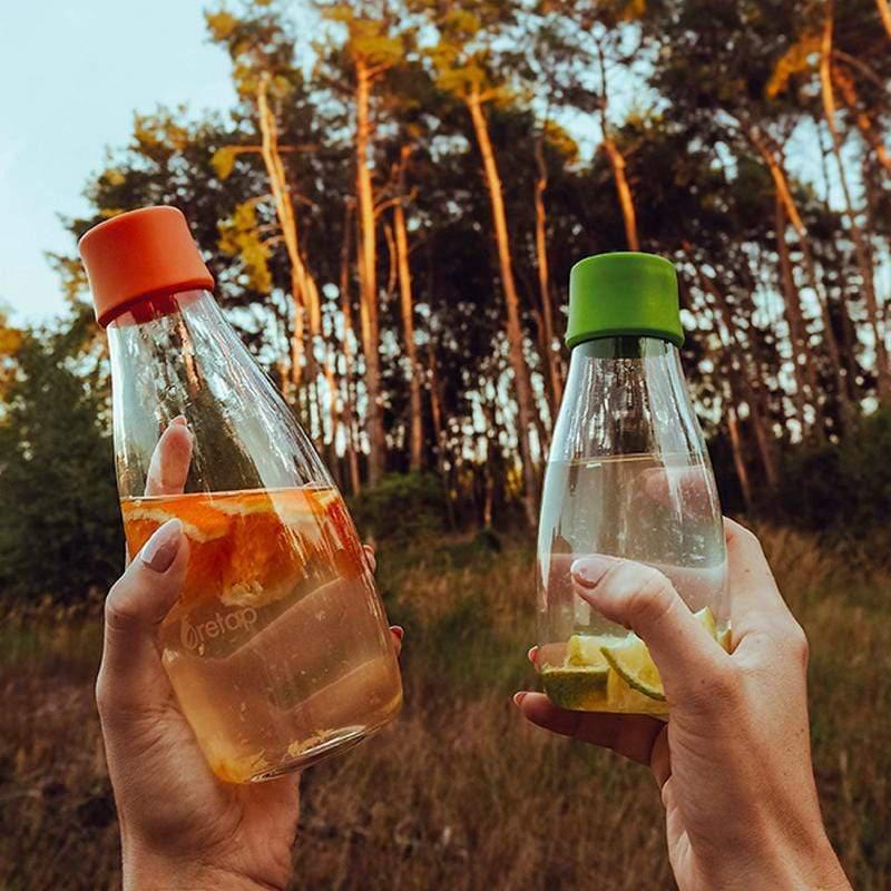 【預購】捷克製造|極輕環保無毒、耐熱玻璃水瓶 500ml  (22色) 橙橘 (Orange)