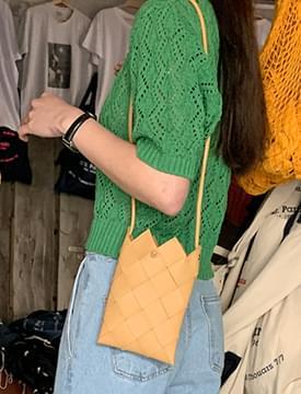 韓國空運 - Webbing mini square shoulder bag 肩背包