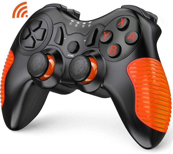 【日本代購】BEBONCOO LSwtich控制器高清震動無線 任天堂 相容Nintendo Pro控制器 橙色