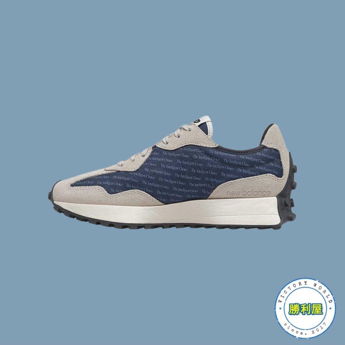 【滿額現折300】【NEW BALANCE】327 女鞋 休閒鞋 復古鞋 灰白 藍 卡其 復古 麂皮 增高 熱門款 WS327BA【勝利屋】