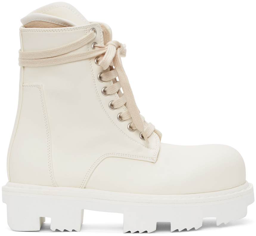 Rick Owens Drkshdw 灰白色 Megatooth Army 踝靴