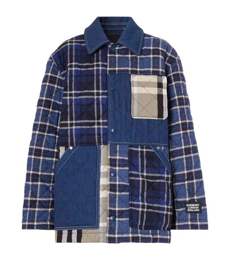 Burberry Quilted Check Print Jacket