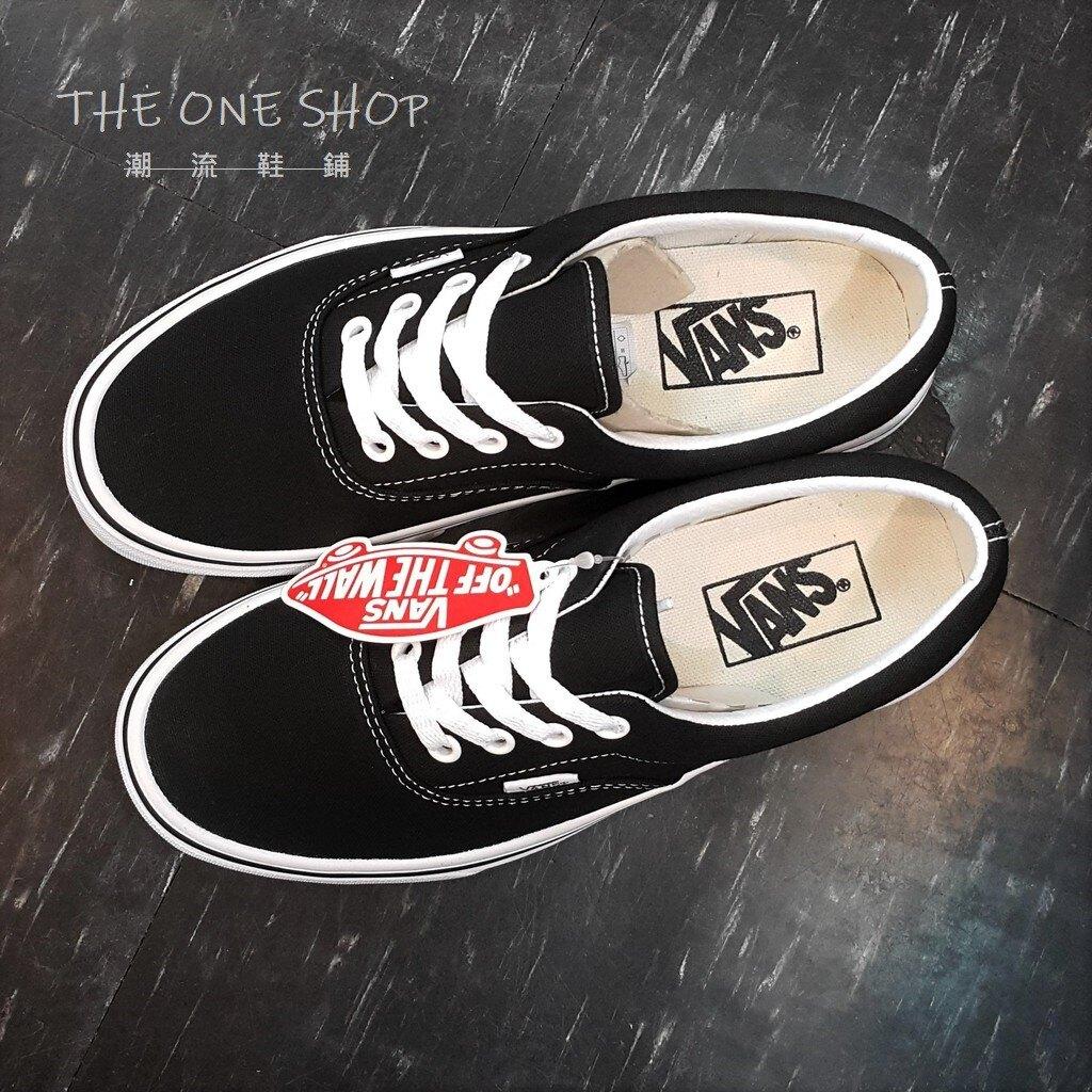 TheOneShop VANS ERA BLACK 黑白 黑色 帆布 基本款 經典款 厚內裡 滑板鞋 VN000EWZBLK