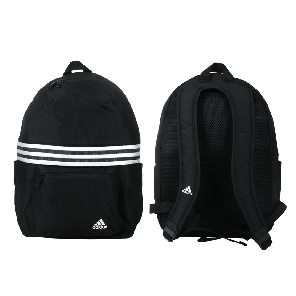 adidas 後背包-雙肩包 肩背包 旅行包 愛迪達 黑白