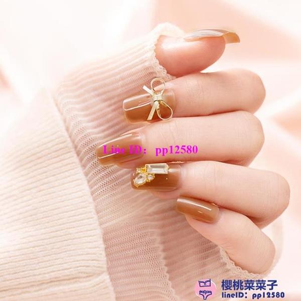 指甲貼片可穿戴可反復使用穿戴式美甲貼女拆卸指甲貼甲片成品【櫻桃菜菜子】