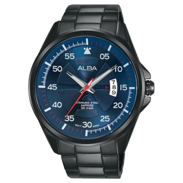 ALBA 雅柏 VJ42-X268B(AS9H39X1)潮流任我行簡約經典腕錶/藍面44mm