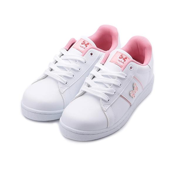 DISNEY 米妮飾釦休閒鞋 白粉 女鞋