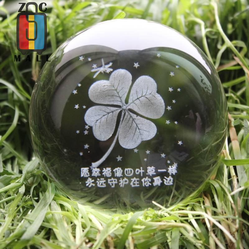 【全館免運】水晶球 水晶球送男朋友閨蜜情侶創意畢業少女心生日禮物女生有意義圣誕節