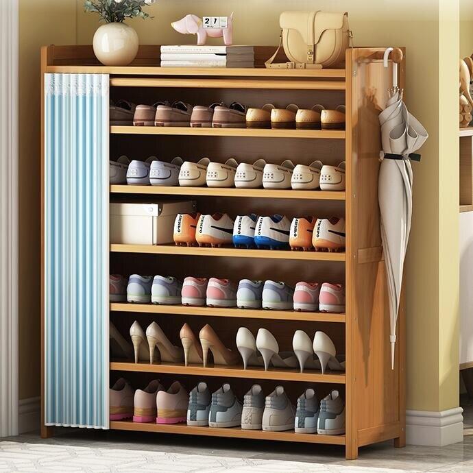 鞋架子家用經濟型室內簡易放門口收納實木防塵臥室竹鞋柜好看多層