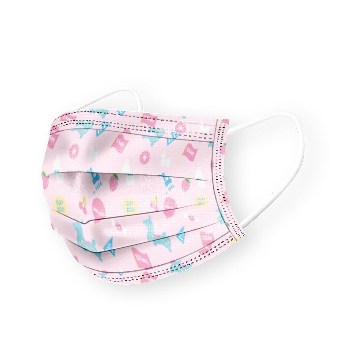RODY 成人醫療平面口罩-粉色 (30入/盒)【杏一】