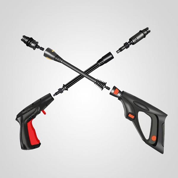 洗車水槍 高壓洗車機專用短水槍長槍桿長水槍洗車機配件接頭水槍