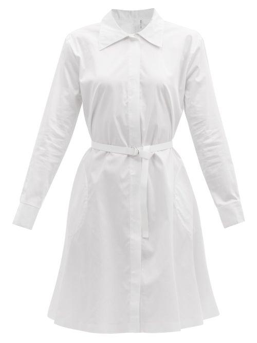 Norma Kamali - Boyfriend Cotton-poplin Shirt Dress - Womens - White
