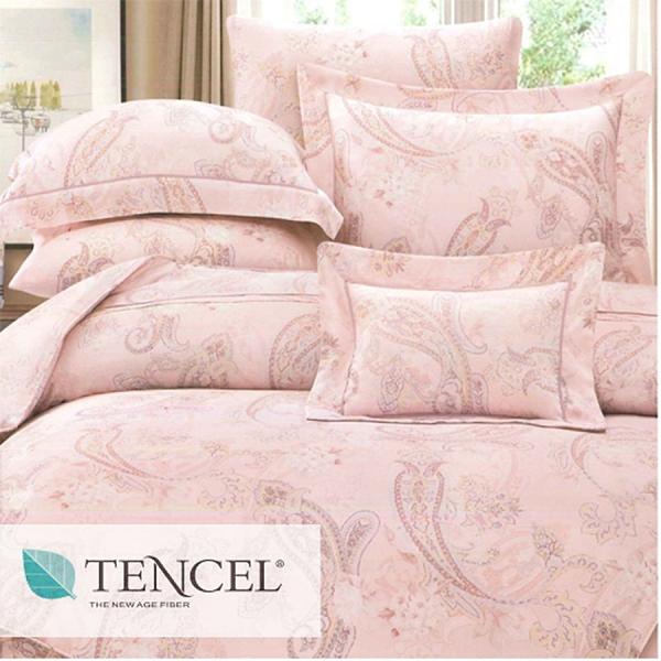 【JennySilk名床】卡斐爾.100%天絲.60支.超柔觸感.標準雙人床罩組