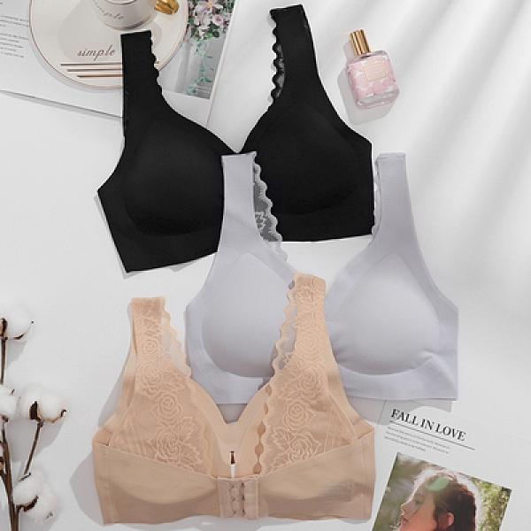 內衣 小可愛 乳膠內衣女背心式可調節無痕無鋼圈小胸防下垂收副乳蕾絲運動文胸NE228依佳衣