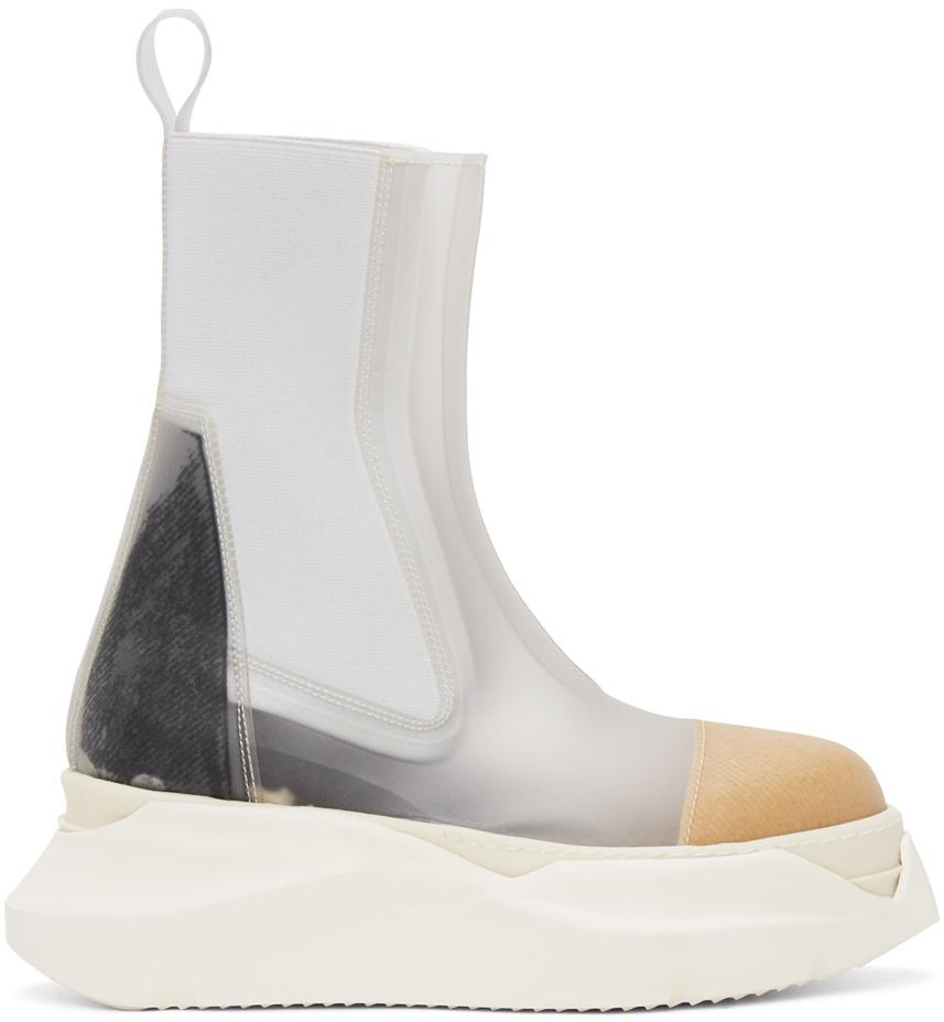 Rick Owens Drkshdw 透明 Beatle Abstract 切尔西靴