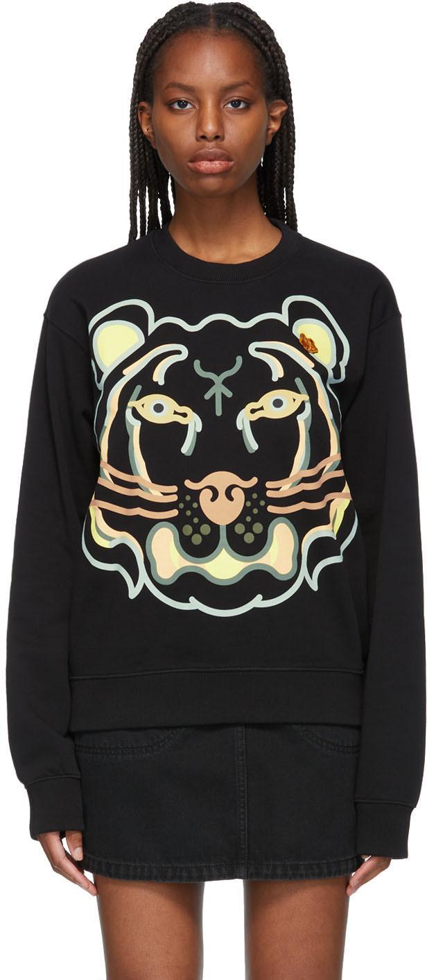 Kenzo 黑色 WWF 联名 K-Tiger 有机棉套头衫