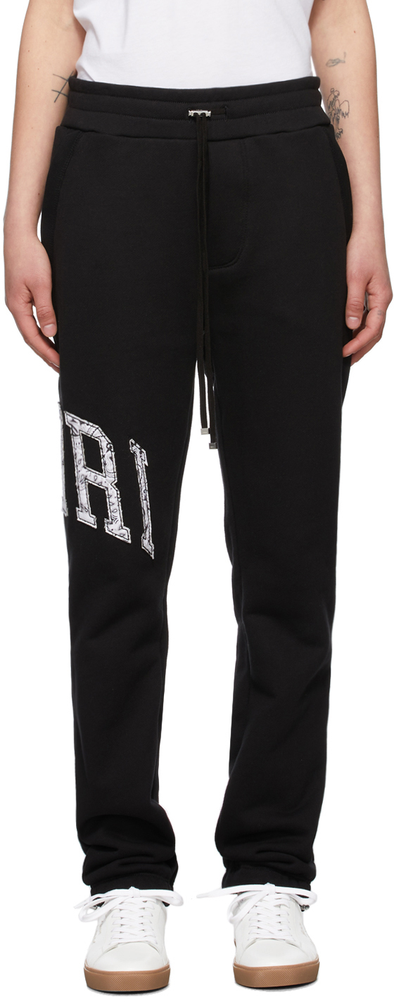 AMIRI 黑色 Varsity 运动裤