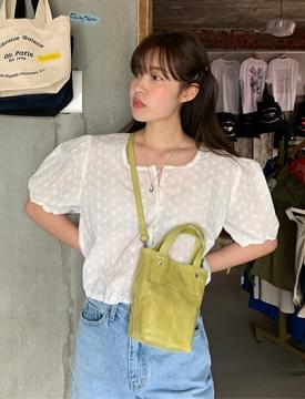 韓國空運 - Annie punching banding blouse 襯衫