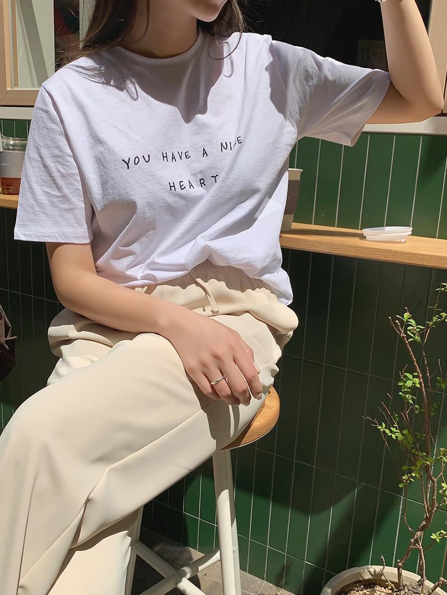 韓國空運 - Heart lettering tea 短袖上衣
