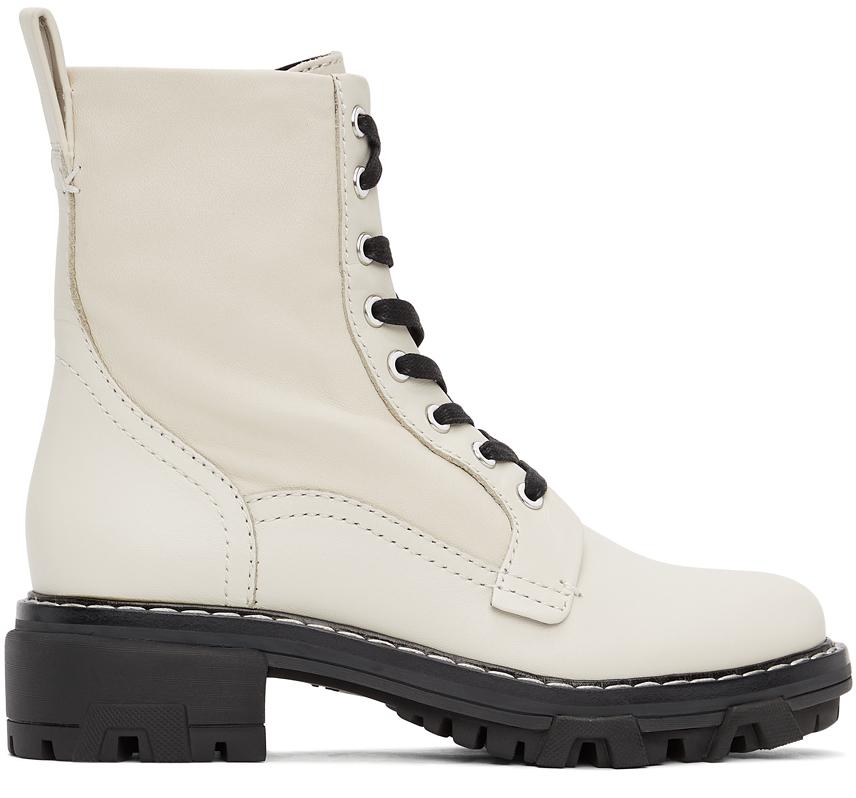 Rag & Bone 灰白色 Shiloh 踝靴
