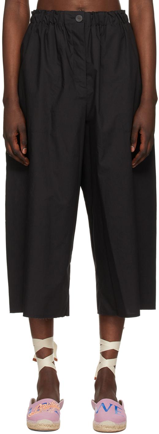 Loewe 黑色 Cropped Elasticated 长裤